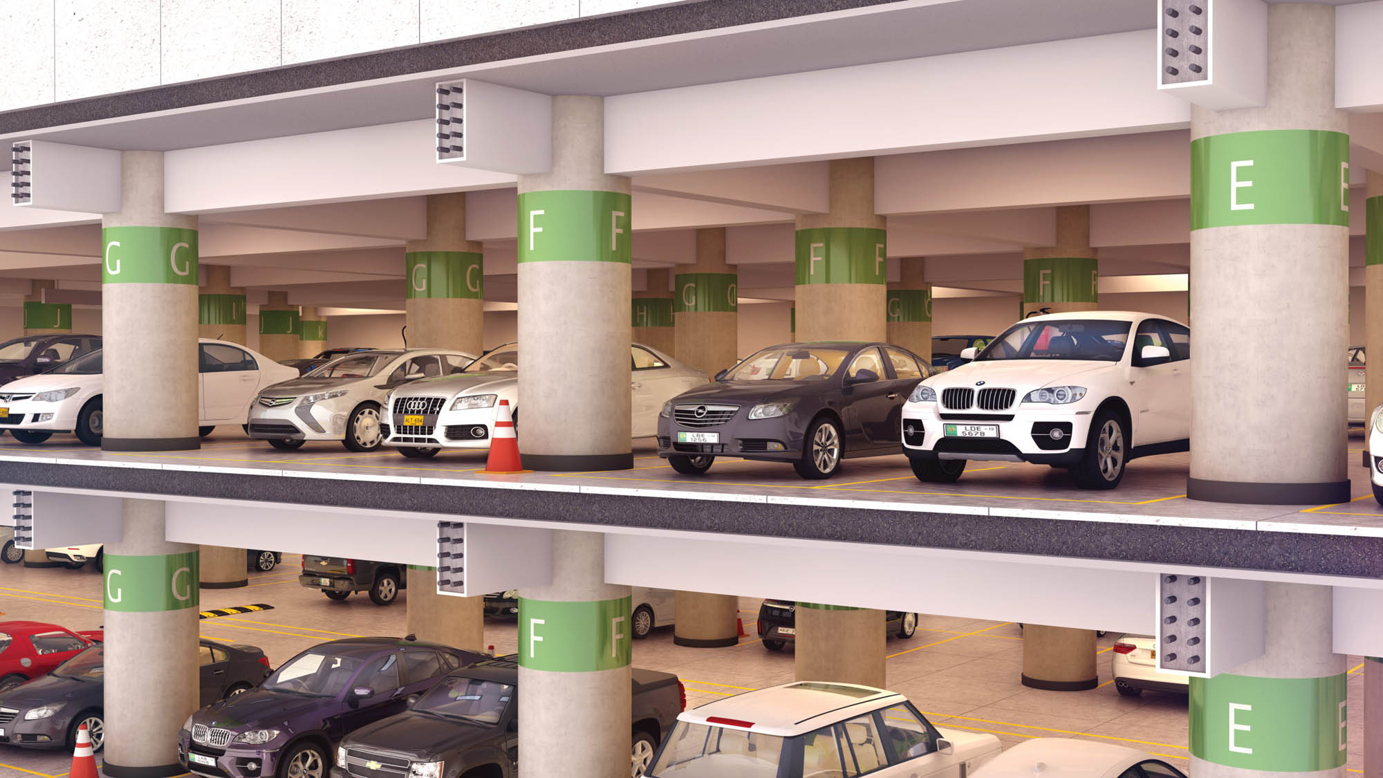 Car parking in Union complex